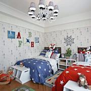 2016大户型地中海风格儿童房装修效果图