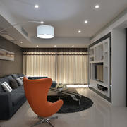 100平米房屋简约客厅展示