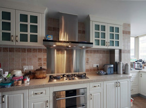110平米大户型美式风格厨房橱柜装修效果图