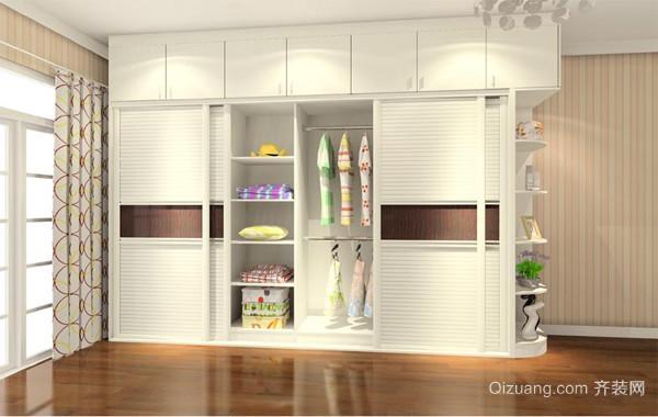 90平米大户型欧式风格卧室衣柜装修效果图
