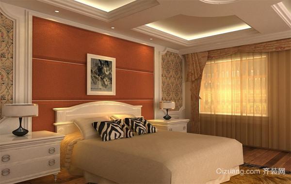 现代欧式风格小户型卧室背景墙装修效果图实例