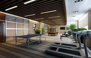现代都市公司小型健身房装修效果图