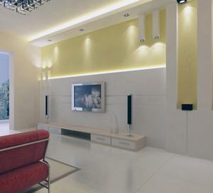 小户型欧式客厅电视背景墙装修效果图实例