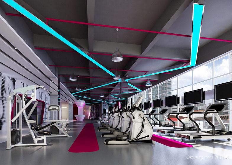 全民健身:都市摩登健身房装修效果图