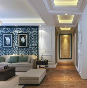 80平米小户型欧式客厅玄关装修效果图实例