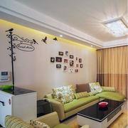 90平米大户型欧式风格客厅照片墙装修效果图