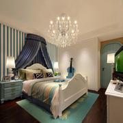 房屋温馨卧室水晶吊灯