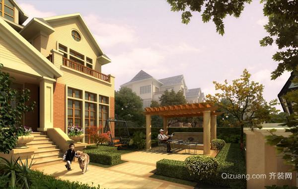 净化空气:小别墅自然绿化设计效果图
