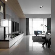 100平米家居客厅电视墙