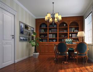 精致的大户型家庭书房吊顶设计装修效果图