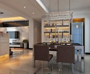 2016大户型现代家居餐厅酒柜效果图