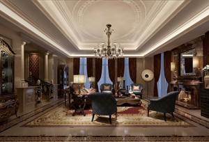 触动人心:别墅家庭混搭风格客厅装修图