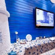 地中海别致电视背景墙