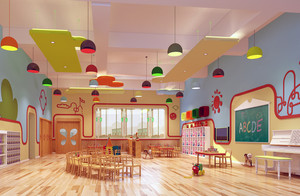 现代都市唯美的幼儿园装修设计效果图实例