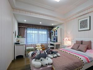 90平米大户型欧式卧室壁纸装修效果图实例