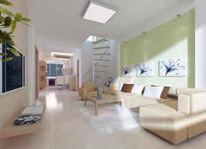120平米大户型简约风格客厅装修效果图鉴赏
