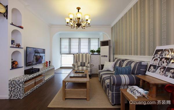 甜美岁月:混搭风格单身公寓装修设计效果图