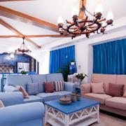 地中海蓝色窗帘欣赏