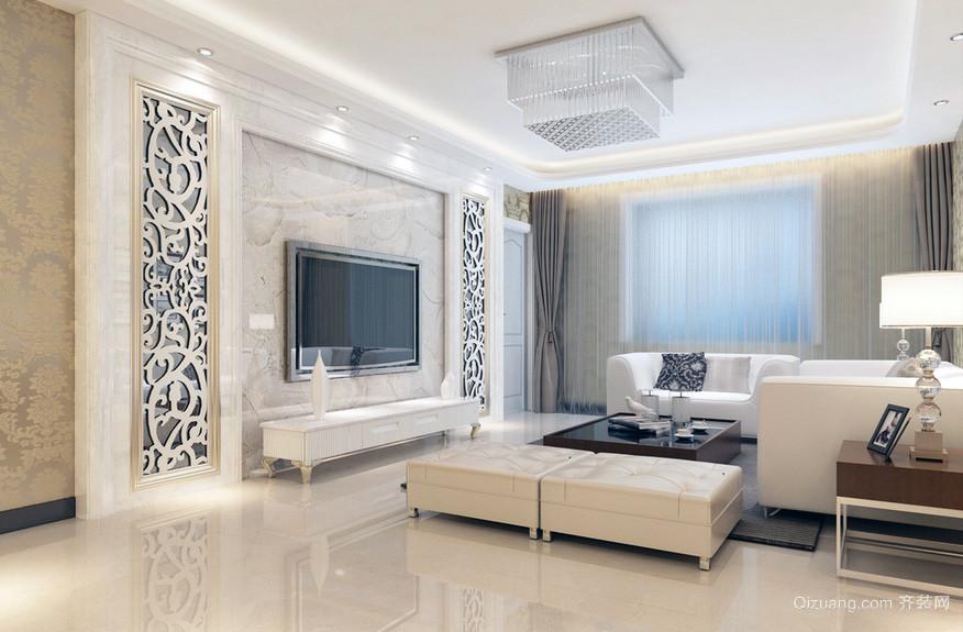 大户型现代简约电视背景墙装修效果图鉴赏