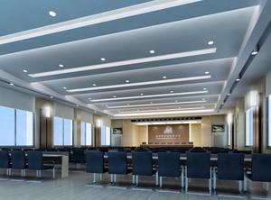 上市公司现代简约风格大会议室效果图