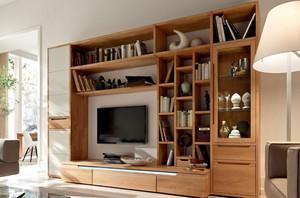 小户型朴素客厅电视墙装修设计效果图
