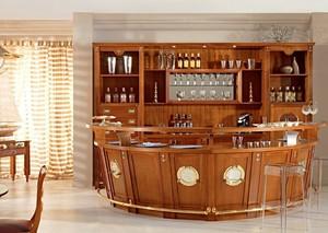 浪漫生活:美式大户型实木酒柜效果图