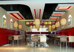 都市快餐店个性吊灯设计装修效果图