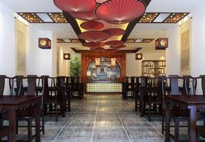 古典中式风格快餐店设计装修效果图