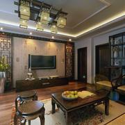 大户型精致的现代中式家装客厅装修效果图