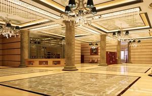 2016唯美的都市宾馆大厅吊顶装修效果图
