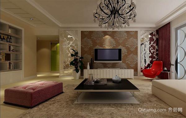 2016欧式家装客厅电视背景墙装修效果图实例