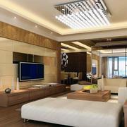 100平米大户型欧式客厅液晶电视墙装修效果图