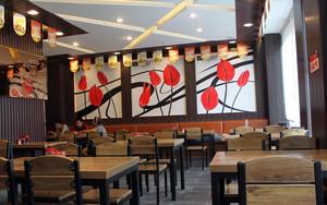 小户型精致快餐店装饰画设计装修效果图