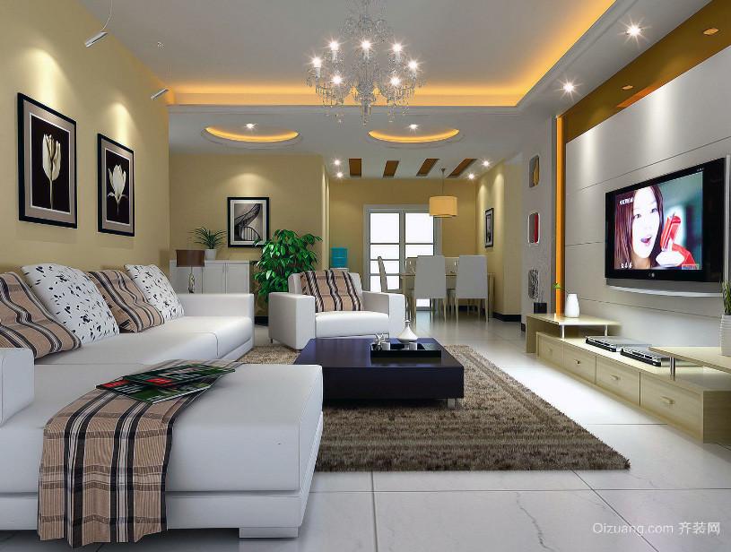 精品小户型欧式风格客厅装修效果图实例