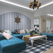 2016大户型地中海风格客厅装修效果图鉴赏