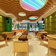 时尚清新小型快餐店设计装修效果图
