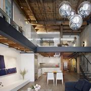 2016大户型精致的欧式风格客厅loft装修效果图