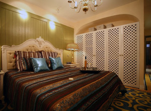 90平米大户型欧式卧室整体衣柜装修效果图