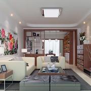 2016大户型欧式风格客厅隔断装修效果图