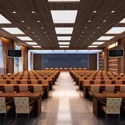 2016庄重大会议室吊顶装修效果图