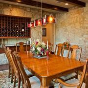 复古餐厅酒柜欣赏