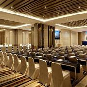 现代酒店壮丽浅色调大会议室效果图