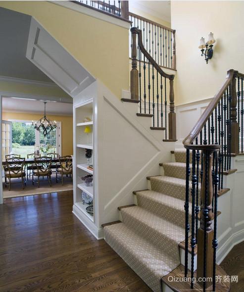2016大户型欧式风格室内楼梯装修效果图