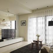 单身公寓玻璃电视背景