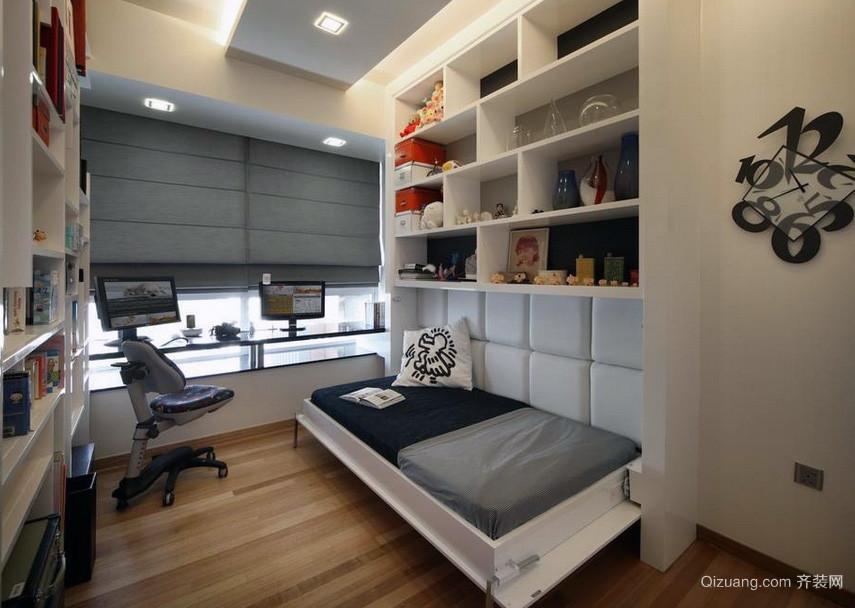 现代欧式风格小户型小卧室装修效果图