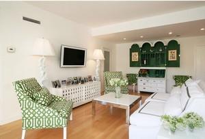 清新住宅:80平米家庭田园客厅装修图