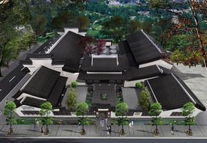 2016大户型精致四合院别墅设计效果图实例