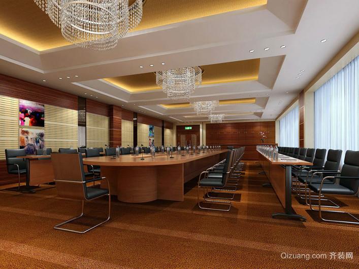 2016大型企业精致会议室装修效果图