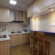单身公寓厨房实木橱柜