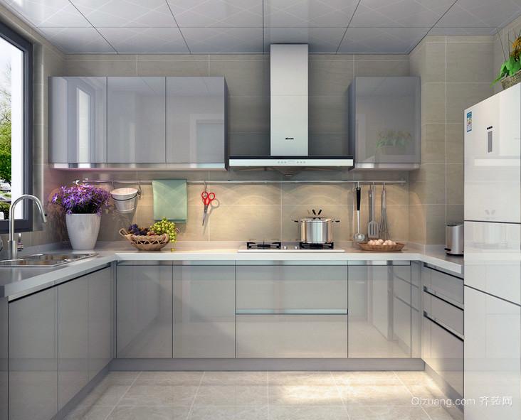现代都市家庭大户型欧式厨柜装修效果图实例